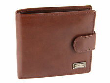 Rowallan Mens Three Page Buffalo Leather Wallet For Credit Cards, Notes & Coins