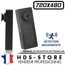 BOUTON CAMERA ESPION BTN2D 480P MICRO SD 32 GO MAX DÉTECTION VIDÉO PHOTO 720X480