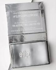 NIB Slip Silk Pillowcase Silver