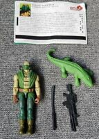Gi Joe Croc Master Valor vs Venom Action Figure Complete V2 2005 File Card
