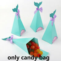 50×Mermaid Candy Boxes Little Mermaid Party Supplies Theme Mermaid DIY Gift Box~