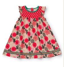 Matilda Jane GLAD TIDINGS Dress 6 Flutter Red Floral Girls Make Believe NWT