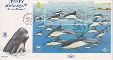 Unaddressed Jersey FDC First Day Cover 2000 Marine Life IV Mammals Sheet Expo OP
