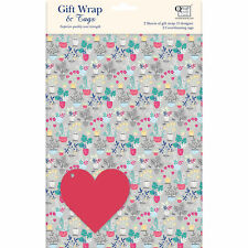 Gift Wrap & Tags - Grey Botanical (2 Sheets+Tags)