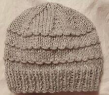 0f2811c4fe1 Handknit hat newborn 0-3 months baby Boy girl (light grey)