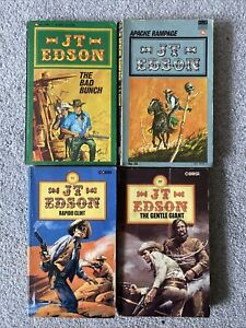 J T Edson Western Cowboy Books Lot Of 4 See Photos For Detail Father's Day Gift