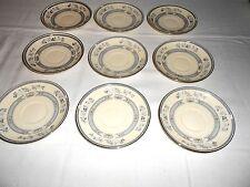 "9 Minton Penrose Platinum 5 1/2"" Saucers Royal Doulton England"
