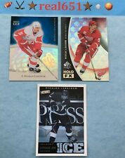 2004+ NICKLAS LIDSTROM Insert Lot x 3 HOF | SP Authentic Holo FX | Victory Stars