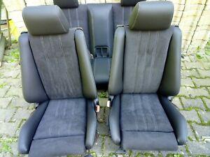 BMW e30 2 türige Limousine Sitzbezüge komplet (BMW Nappa Schwarz / Alcantara)