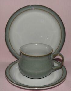 Denby, Regency Green, 1x Trios of Tea Cup, Tea Saucer & Tea plate (17.5cm)