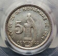 Silver 1945 Guatemala 5 Centavos | PCGS MS66