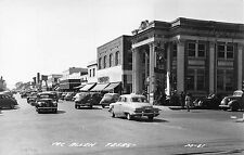 TX - RARE REAL PHOTO 1950's Bank on Corner at McAllen, Texas - Hidalgo County