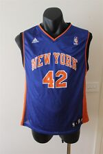 NEW YORK KNICKS NBA BASKETBALL JERSEY SINGLET LEE 42 YOUTH SIZE LARGE (14-16)
