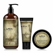 Wen Sweet Almond Mint Set Cleansing Conditioner Styling Creme Hair Treatment New