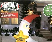 NIB New Gemmy Airblown Inflatable MAN IN THE MOON SANTA 6.5ft Blow Up