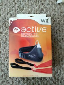 Nintendo Wii Active Accessory Pack Leg Strap Resistance Band- New Sealed