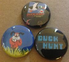 "DUCK HUNT lot of 3 1"" Pins Buttons Pinbacks NINTENDO NES super mario zapper"