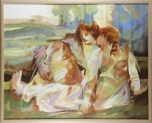 Hessam Abrishami Original Painting Oil On Canvas Signed Artwork