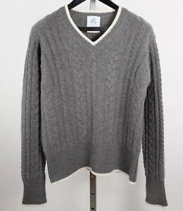 New sz 2 / M Thom Browne Brooks Brothers Black Fleece cashmere sweater gray