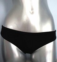 PINK Victorias Secret Solid Black Low Rise Hipster Swim Bikini Bottom XS S