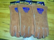 3 pair New Tillman 1010 Welding Gloves Leather Lined Select Split Cowhide  Large