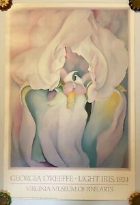 "Georgia O'Keeffe LIGHT IRIS Virginia Museum of Fine Art 1988 print poster 24x36"""