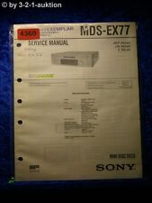 Sony Service Manual MDS EX77 Mini Disc Deck (#4360)