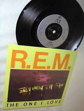 R.E.M.-THE ONE I LOVE/CRAZY M- UK rock 45+PS