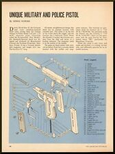 Vintage 1968-33113;Exploded View of, Unique Military and Police Pistol