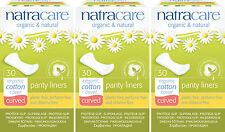 Natracare Organic Cotton Curved Panty Liners. Chlorine Free x 3 Packs