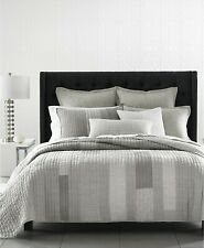 Hotel Collection Broken Stripe GREY Quilted STANDARD Sham