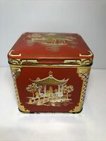 Vintage Ridgways Tea Balls Metal Collectible Decorative Tin Container VGC