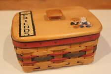 New ListingLongaberger Rolodex Basket with Painted Lid