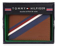 NEW TOMMY HILFIGER MEN'S LEATHER DOUBLE BILLFOLD ID WALLET HONEY TAN 31TL130012