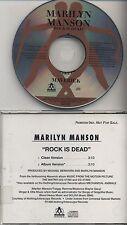 MARILYN MANSON Rock is Dead 1998 Maverick CD SINGLE PROMO