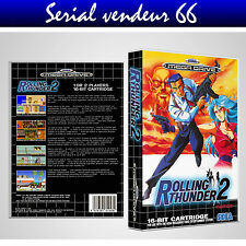 "BOX, CASE ""ROLLING THUNDER 2"".MEGADRIVE.BOX + COVER PRINTED.NO GAME.MULTILINGUAL"