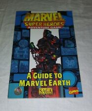 A Guide to Marvel Earth - Marvel Super Heroes Adventure Game - TSR (SAGA Rules)