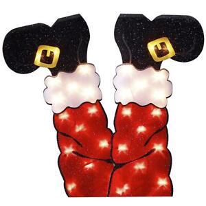 45cm Santa Legs LED Light Indoor Outdoor Garden Christmas Decoration Ornament