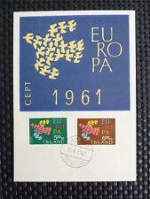 ISLAND MK 1961 EUROPA CEPT TAUBE PIGEON MAXIMUMKARTE MAXIMUM CARD MC CM c4597
