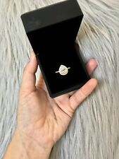 Gold double halo Swarovski ring size 7 FREE SHIPPING IN AUS LOCAL SELLER