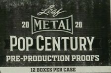 2020 LEAF METAL POP CENTURY PRE PRODUCTION PROOFS FACTORY SEALED 12 BOX CASE
