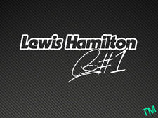 Lewis Hamilton #1 Car Sticker Decal F1 Formula 1 World Champion number one