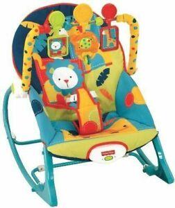 Fisher-Price X7046 Infant to Toddler Rocker Dark Safari NEW