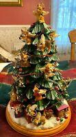 Cat Lover's Illuminated Tabletop Christmas Tree Purr-fect Holiday Bradford Reti