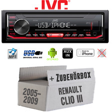 Car Radio JVC for Renault Clio 3 MP3 USB Android IPHONE Installation Kit