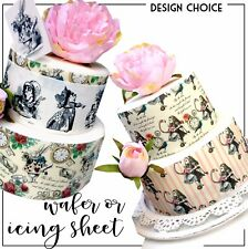 Alice in Wonderland Edible Icing sheet 5 designs Cake cupcake wafer mad hatter