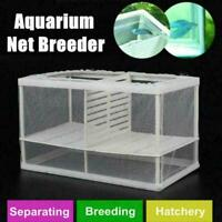 Fish Tank Aquarium Net Case Breeder Incubator Breeding Fr Isolation Fry Box L1Z2