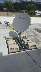 Hughes Net Modem HT2000w with Satellite Dish & Stand