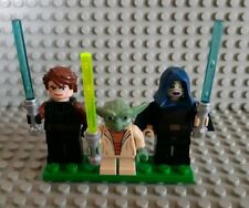 16 X MINI fichi STAR WARS JEDI la forza FIT LEGO DARTH VADER Anakin Yoda GIOCATTOLI UK