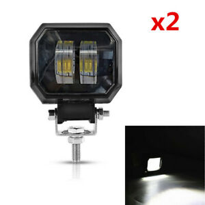 12V 24V 6500K 2x 20W LED Light Bar Offroad Car Boat Led Spot Work Light